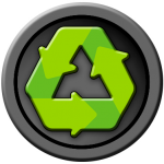 Recycling icon representing our commitment to taking care of the planet.